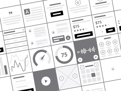 Blocks Wireframe Kit