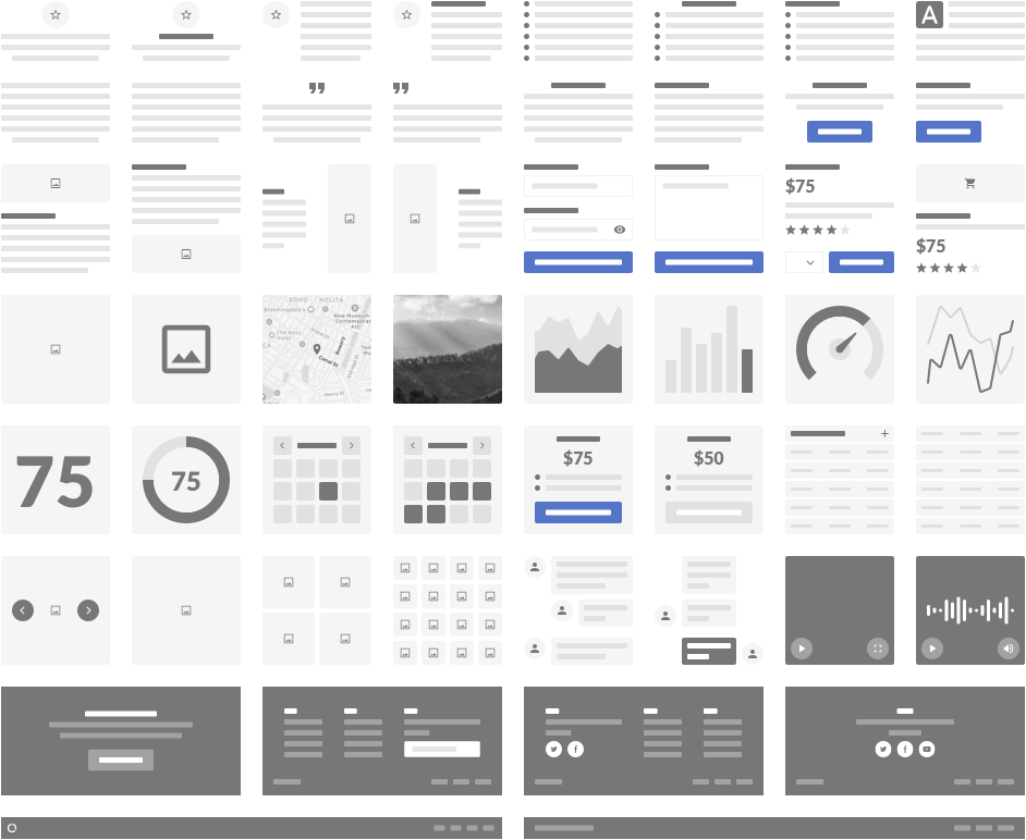 Responsive Wireframe Kit - Blocks